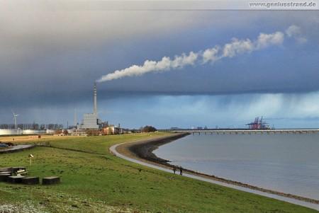 Wilhelmshaven: Nahender Wetterumschwung am JadeWeserPort