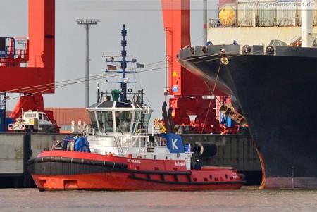 Container Terminal Wilhelmshaven/JadeWeserPort: Schlepper/Tug RT Claire