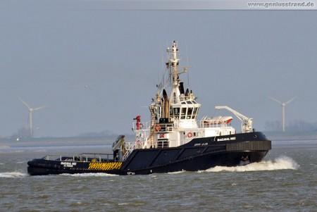 Wilhelmshaven: Schlepper Ibaizabal Diez (URAG) auf der Jade