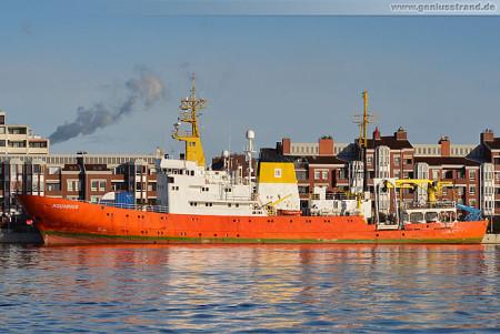 Forschungsschiff Aquarius (ex Meerkatze) Hempel Shipping GmbH am Bontekai