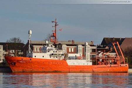 Forschungsschiff Aurelia der Hempel Shipping GmbH am Bontekai