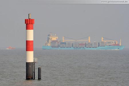 Wilhelmshaven CTW: Containerschiff Maersk Vancouver & Pilot Warnemünde