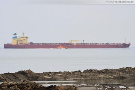 Wilhelmshaven Schiffsbilder: Cruide Oil Tanker NS Arctic auf der Jade