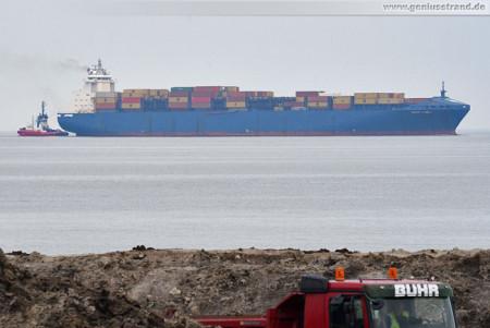 Wilhelmshaven Shipspotting: Containerschiff Conti Chiwan auf der Jade