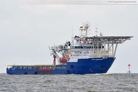 Wilhelmshaven Shipspotting: Multi Purpose Offshore Vessel Topaz Commander