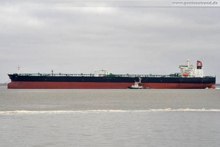 Shipspotting Wilhelmshaven: Tanker Red löschte 128.600 t Öl an der NWO
