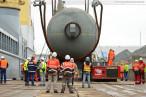 Wilhelmshaven: Verladung der Cracker/Reaktoren am Lüneburgkai