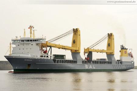 Shipspotting Wilhelmshaven: Spezialtransportschiff Svenja im Nordhafen