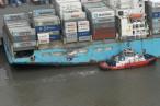 Havarie: Auf der Außenweser sind zwei Containerschiffe kollidiert