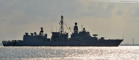 Wilhelmshaven: Fregatte Bremen (F 207) beendet letzte große Seefahrt im Heimathafen Wilhelmshaven