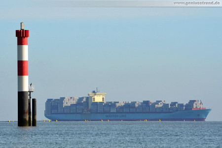 JadeWeserPort Wilhelmshaven: Containerschiff Sofie Maersk (inbound)
