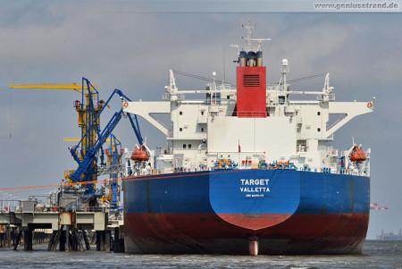 Schiffsbilder Wilhelmshaven: Crude Oil Tanker Targer am NWO-Anleger 1