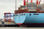 Wilhelmshaven: Containerschiff Eugen Maersk am JadeWeserPort