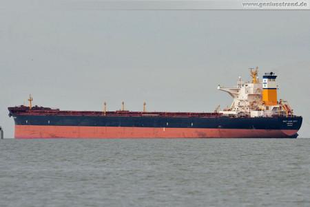 Bulk carrier Salt Lake City löscht 74.160 t Kohle an der Niedersachsenbrücke