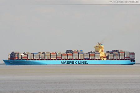 Wilhelmshaven: Containerschiff Maersk Salalah kommend vom JadeWeserPort
