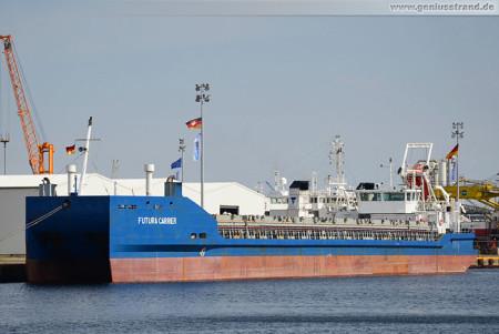 Wilhelmshaven Südwestkai: Weltweit modernstes Binnenschiff Futura Carrier