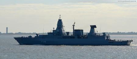 Wilhelmshaven: Fregatte Sachsen (F 219) läuft zum Ständigen Maritimen Einsatzverband der NATO 2 (SNMG2) aus