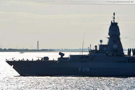 Fregatte Sachsen (F 219) läuft zum NATO-Einsatz (SNMG2) aus