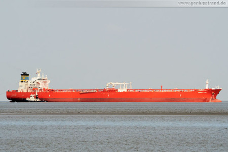 Wilhelmshaven Shipspotting: Tanker Ashley Lady auf der Jade