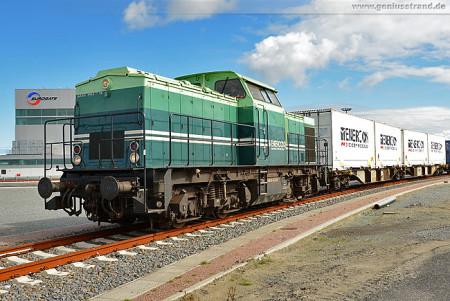 CT-Wilhelmshaven: Erster Enercon-Containerzug am JadeWeserPort