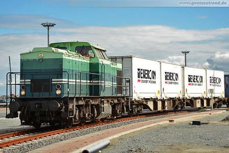 JadeWeserPort: Der erste Enercon Zug am Container Terminal Wilhelmshaven