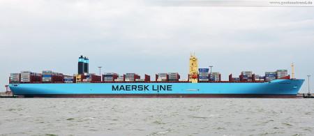Wilhelmshaven: Größtes Containerschiff der Welt Majestic Maersk (Triple-E-Klasse) am JadeWeserPort