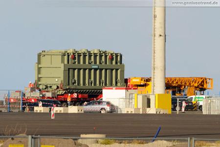 JadeWeserPort Projekt Pier: Transformator für das GDF Suez Kraftwerk