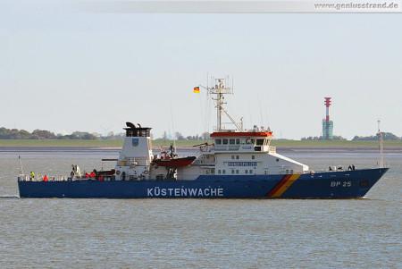 Schiffsbilder Wilhelmshaven: Küstenwache Bayreuth (BP 25) auf der Jade