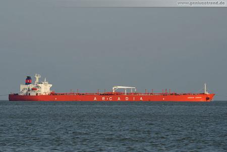 Wilhelmshaven: Tanker Aegean Legend löscht über 100.240 t Öl an der NWO
