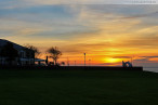 Wilhelmshaven: Herbstlicher Sonnenaufgang am Südstrand