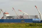 Wilhelmshaven Lüneburgkai: Rotorblätter für den Windpark Bassens