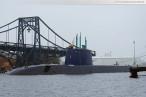 Wilhelmshaven: U-Boot-Neubau Tanin fährt Schleife im Großen Hafen