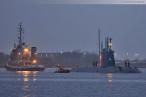 Wilhelmshaven: Israelisches U-Boot Tanin (Dolphin AIP-Klasse) im Nordhafen