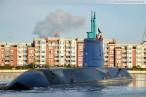 Wilhelmshaven: U-Boot-Neubau Tanin fährt im Großen Hafen Schleife