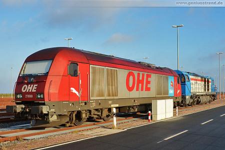 JadeWeserPort: Diesellok-Gespann der Osthannoversche Eisenbahnen (OHE)