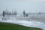 Wilhelmshaven: Sturmtief Xaver bringt Sturmflut an den Jadebusen