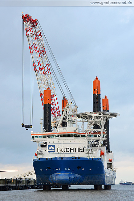 Offshore-Errichterschiff Vidar am JadeWeserPort