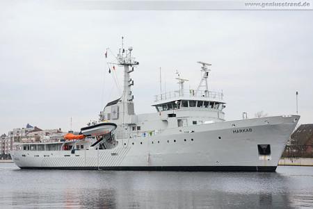 Wilhelmshaven: Das Mehrzweckschiff Markab im Großen Hafen