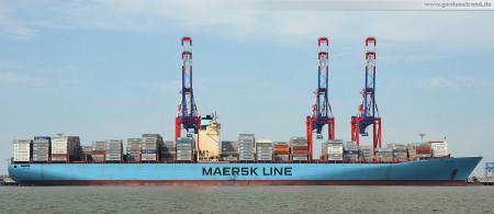 Container Terminal Wilhelmshaven (CTW): Containerschiff Elly Maersk (Emma-Maersk-Klasse)
