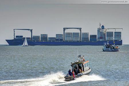 Containerterminal Wilhelmshaven (CTW): Containerschiff Maersk Nijmegen