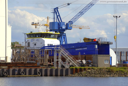 Wilhelmshaven Neue Jadewerft: Fast Crew Supplier Vessel WINDEA ONE