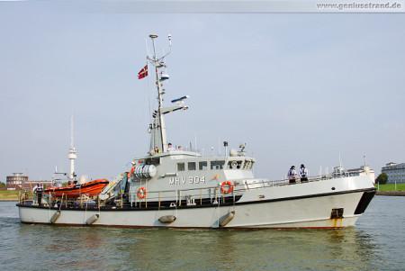 Lyoe (MHV 904): Seenotrettungsübung SAREX 2014 in Wilhelmshaven