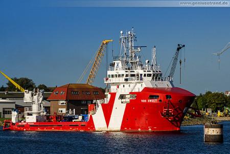 Wilhelmshaven: Offshore-Versorger VOS SWEET (Subsea Support Vessel, SSV)