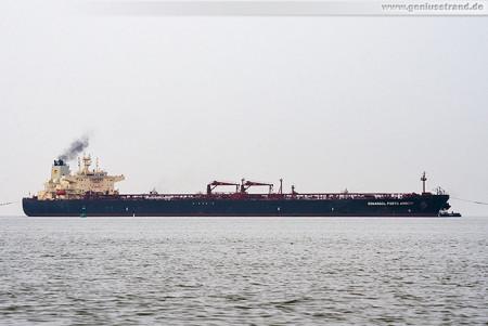 Tanker SONANGOL PORTO AMBOIM löscht fast 129.000 t Öl an der NWO