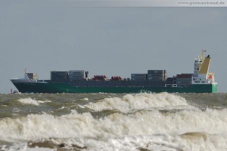 JadeWeserPort: Container-Feederschiff HEINRICH EHLER (outbound)