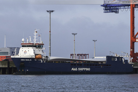 ABIS DUBLIN am Container Terminal Wilhelmshaven (CTW)