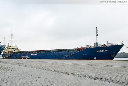 Wilhelmshaven: Küstenmotorschiff MERIDIAN am Hannoverkai