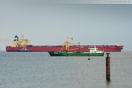 Wilhelmshaven: Tanker NS CHAMPION löscht 80.000 t an der NWO-Löschbrücke