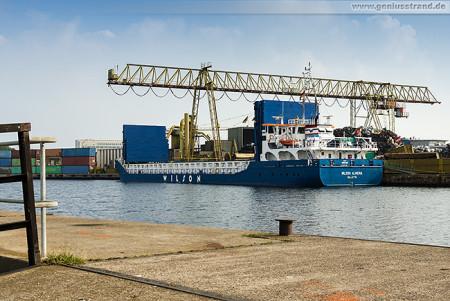 Wilhelmshaven: Frachtschiff WILSON ALMERIA Jade-Stahl Kai (Handelshafen)