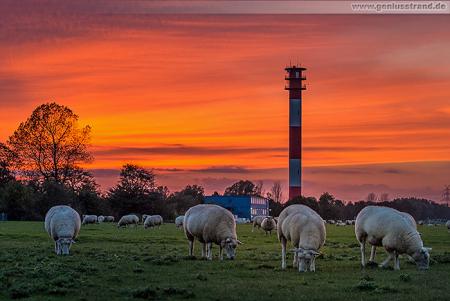 Wilhelmshaven: Sonnenuntergang am ehemaligen Geniusstrand